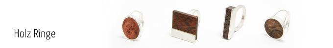 Holzschmuck Ringe