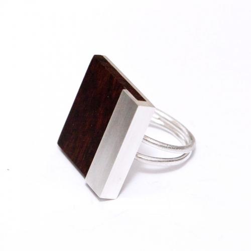 Ring Silber & Schlangenholz