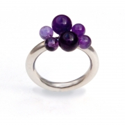 Ring Bubbles, Amethyst