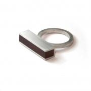 Ring Silber & Amaranth
