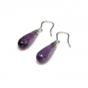 Ohrring Bubbles, mit Amethyst-Pampel
